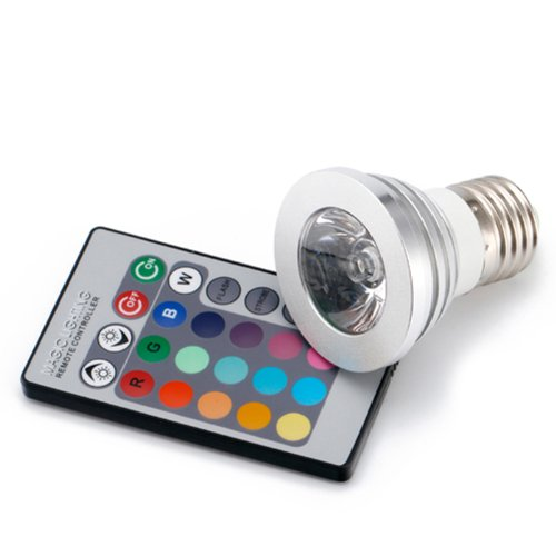 HDE® Remote Control Color Changing 16 LED Light Bulb with RC picture