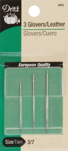 Dritz 3-Piece Glovers/Leather Hand Needles, Size 3/7