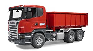 Amazon.com: Bruder SCANIA-R-Series Tipping Container Truck: Toys