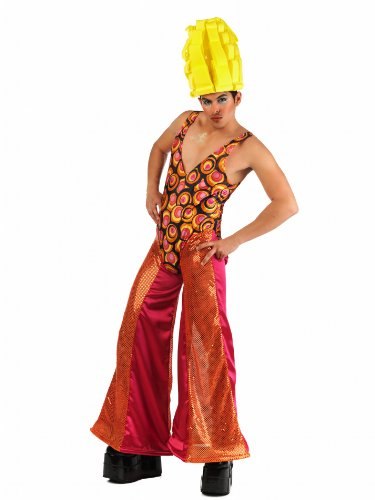 Mascarada MA 532 L - Drag Queen Chloe costume, taglia L, arancione / rosa / rosso