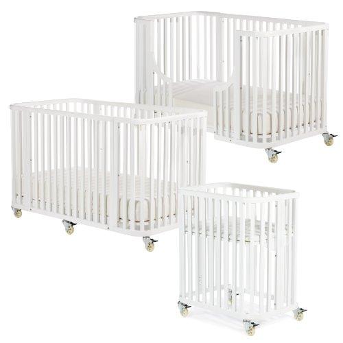 Argington Organic Bam Bam Crib Complete, White