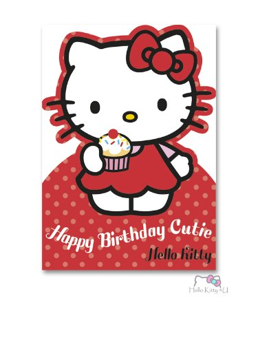 Hello Kitty Birthday Card - D-Cut Kitty Cutie