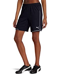Puma Women's Manchester Shorts, New Navy/White, XX-Small