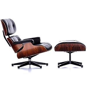 Amazon com eames lounge chair amp ottoman eames chair reproduction