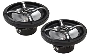 "Bazooka MAC8002B 8"" 2-Way 200 Watt Waterproof Marine Audio Speakers, Black"