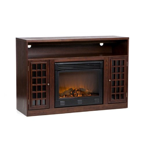 Check Out This SEI Narita Media Console with Electric Fireplace, Espresso