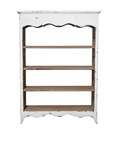 Jeffan La Salle Open Bookcase, Antique Brown/White