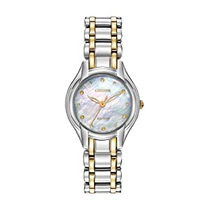 Citizen Women's EM0284-51N Silhouette Analog Display Japanese Quartz Two Tone Watch