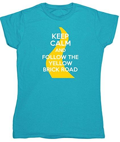 HippoWarehouse -  T-shirt - Donna Sapphire Blue Medium
