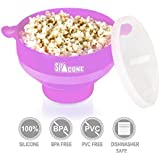 Silicone Microwave Popcorn Popper BPA Free Popcorn Maker 2 Minutes To Pop With Or Without Oil