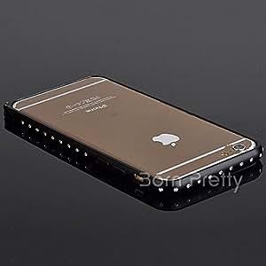 GENERIC Rhinestone Metal Frame Case For iPhone 6/ iPhone 6 Plus Sweet Color Frame Case # 18562(gold(iphone6 plus)