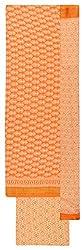 Royal Women's Cotton Unstitched Salwar Suit (Orange and White)