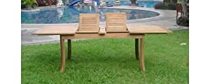 """13 Pc Luxurious Grade-A Teak Dining Set - 117"""" Rectangle Table And 12 Stacking Arm Chairs [Model:CH4] from WholesaleTeak"""