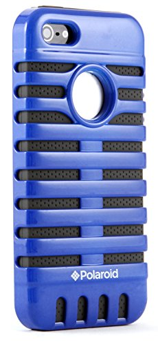 Polaroid Retro Microphone Style Protective Case for iPhone 5 - Retail Packaging - Blue