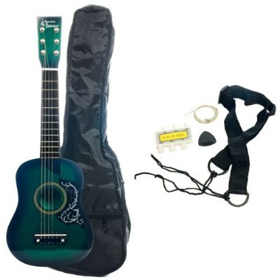 Kid's Acoustic Toy Guitar with Carrying Bag and Accessories - Green