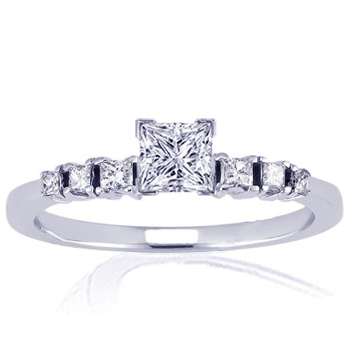 1.20 Ct Princess Cut Diamond Engagement Ring