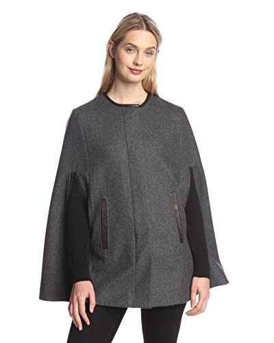 Soia & Kyo Women's Cape with Leather Trim
