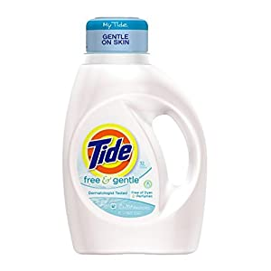 Tide Free and Gentle Liquid Laundry Detergent, 50 oz, 32 loads
