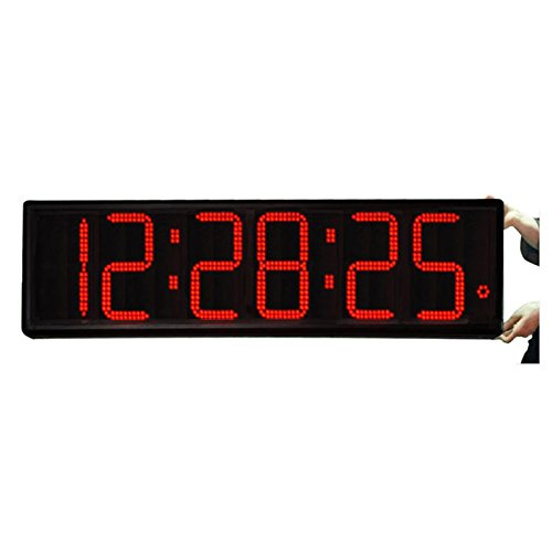 Big Time Clocks Huge 9-Inch Numbers Digital Wall Clock with Remote Control, Large