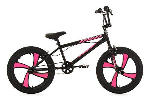 KS-Cycling-Fahrrder-BMX-Freestyle-Cobalt-schwarz-pink-20-Zoll-607B
