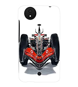 Fuson 3D Printed Mercedes Benz Racing car Designer Back Case Cover for Micromax Canvas Android A1 - D834