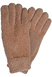 Isotoner Womens Bisque Peach Rayon Chenille Knit Gloves Thinsulate Lined