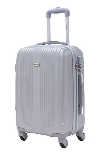 Valise cabine 55cm - Trolley ALISTAIR Airo - ABS - Argent