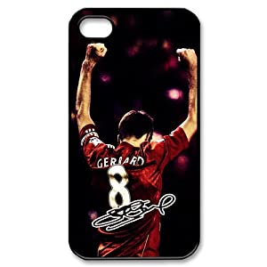 Luckhappy123 custom Liverpool Football Club Steven Gerrard number 8# black plastic Case for iphone 4 4s by luckhappy