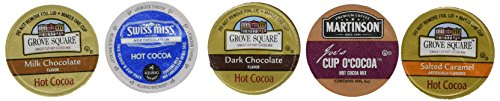 30-count Variety Hot Chocolate Cocoa Cup Sampler for Keurig® K-cup® Brewers - Swiss Miss, Grove Square and Martinson's (K Hot Chocolate Cups compare prices)