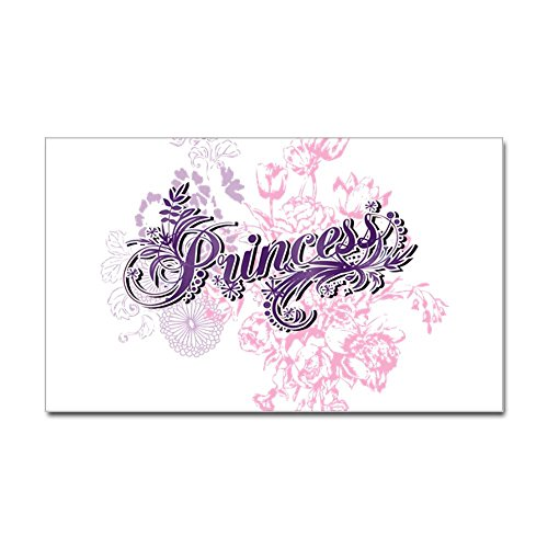 Sticker (Rectangle) Large Purple Princess Floral
