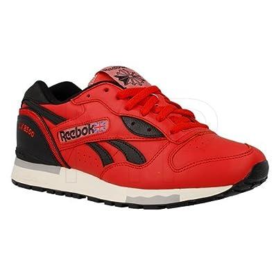 Men's Reebok LX 8500 Men Retro Running Shoes Classic Sneakers V55167 Stadium Red/Black/Paper White/Tin Size 10