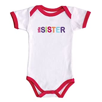 Baby Sayings Bodysuit - Family Girl, Little Sister, 6-9 Months