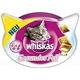 Whiskas Snack Gesundes Fell | 8x 50g Katzensnack mit Biotin