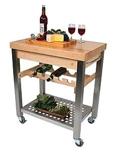Kitchen Cart Island W Wine Rack Cucina D