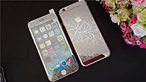 A-GO /-/ Iphone 5/5s Silver 3D- Electroplated/Electroplating Mirror Front + Back Tempered Glass Screen Protector - We offer a Transperent Utra-Thin Back Cover Free with all orders