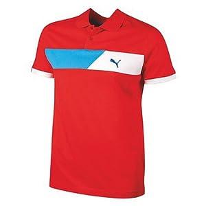 PUMA - Polo para hombre, tamaño M, color miami rojo
