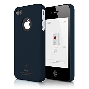 elago S4 Slim Fit Case for AT;T, Sprint, Verizon iPhone 4/4S + Logo Protection Film included (Soft Feeling Jean Indigo)