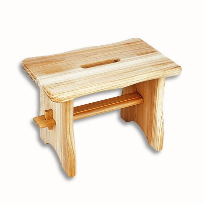 Footrest - Foot Stool Bright Wood