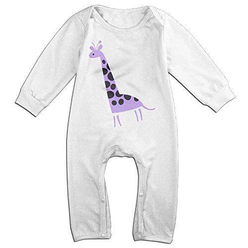 Posit-Babys-Giraffe-4-Boys-Girls-Kids-Creeper-Romper-Bodysuits-Jumpsuits-Size-US-White