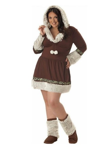California Costumes Women's Eskimo Kisses Costume with Boot Covers