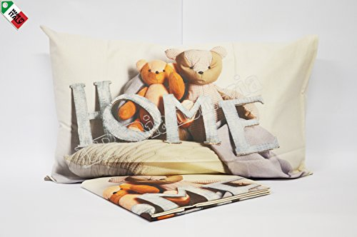 Bettwsche-Freunde-Welpen-Wertvolle-Baumwolle-Made-in-Italy-Dicht-Digitaldruck-auf-Kissenbezge-1-piazza-Einzelbett-Se-Bren-Sweet-Home