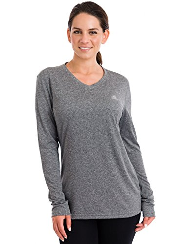 Buy Adidas Women's Climalite Long Sleeve Tee, Dark Grey Heather, 2XLarge