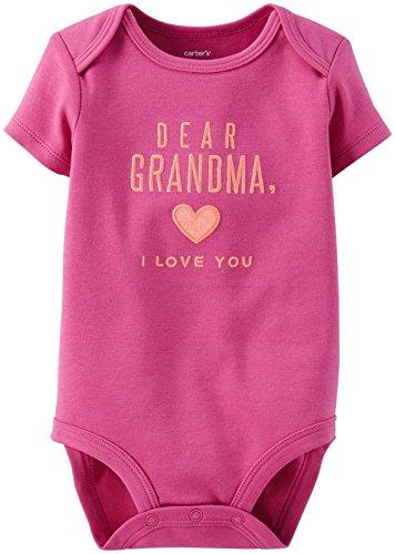 Carter's Slogan Bodysuit (Baby) - Purple-6 Months