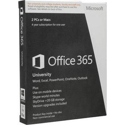 Microsoft Office 365 University - 4 Year Subscription for 1 User - Medialess(No Disc)