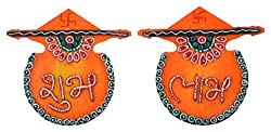 999Store handmade multicolour orange shubh labh diwali door hanging diwali