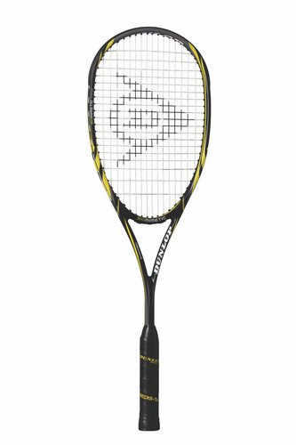 Dunlop Biomimetic Ultimate Unisex Squash Racquet - Black/Yellow, 132 g