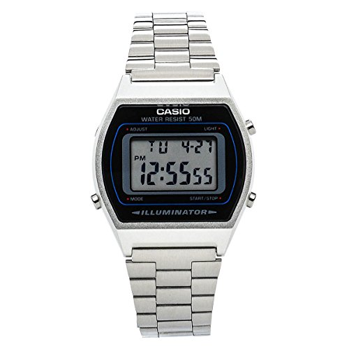 Casio b640wd1 a Unisex Watch Metallic Black/Silver
