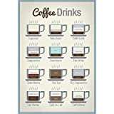 (13x19) Coffee Drinks Art Print Poster