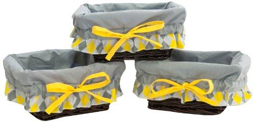 Pam Grace Creations Wicker Basket Set, Argyle Giraffe front-659132