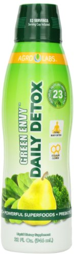 Agro Labs Green Envy Daily Detox, Healthy Hair, Skin and Nails, 32-Fluid Ounce Bottle
